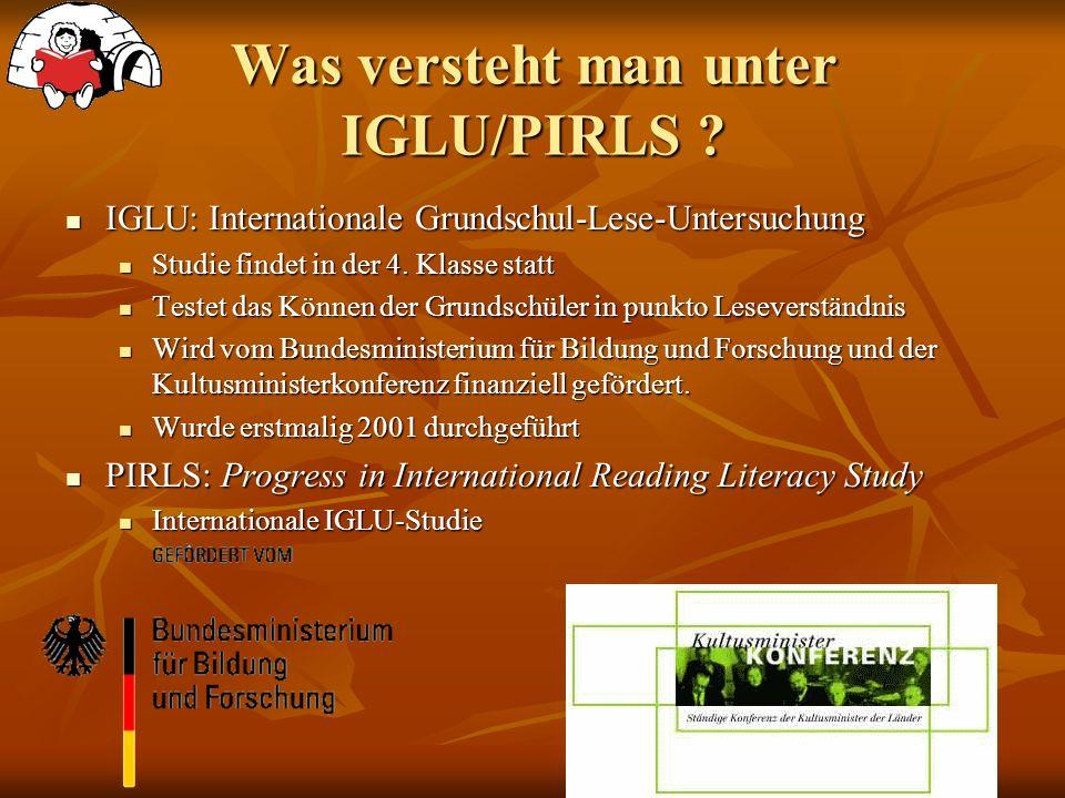 Was versteht man unter IGLU/PIRLS