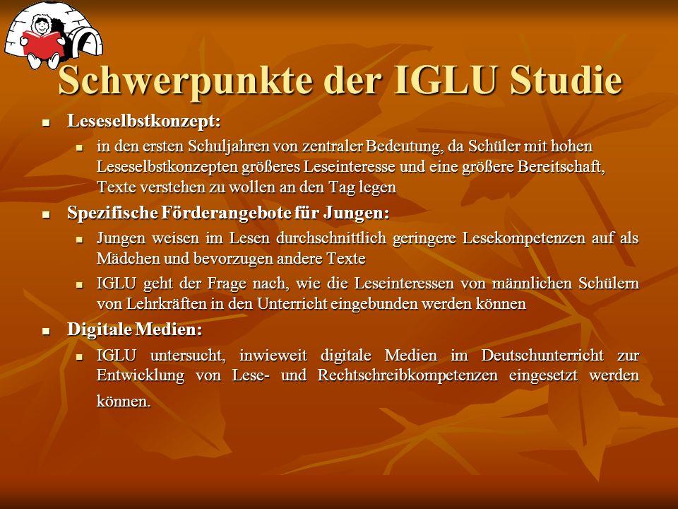 Schwerpunkte der IGLU Studie