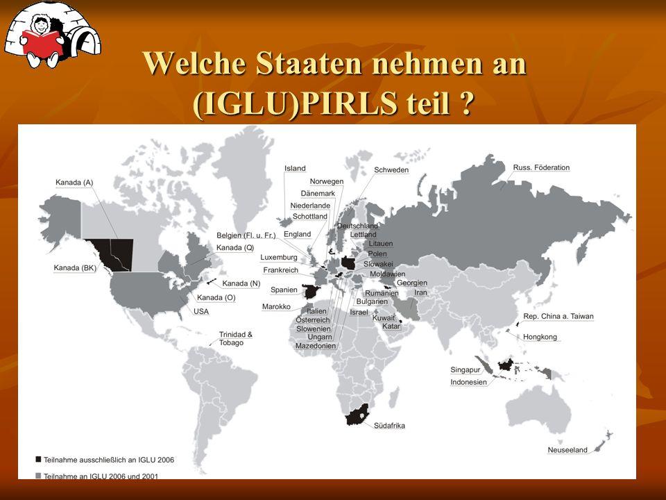 Welche Staaten nehmen an (IGLU)PIRLS teil