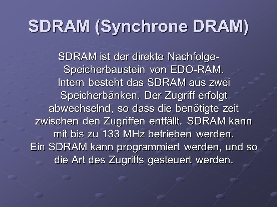 SDRAM (Synchrone DRAM)