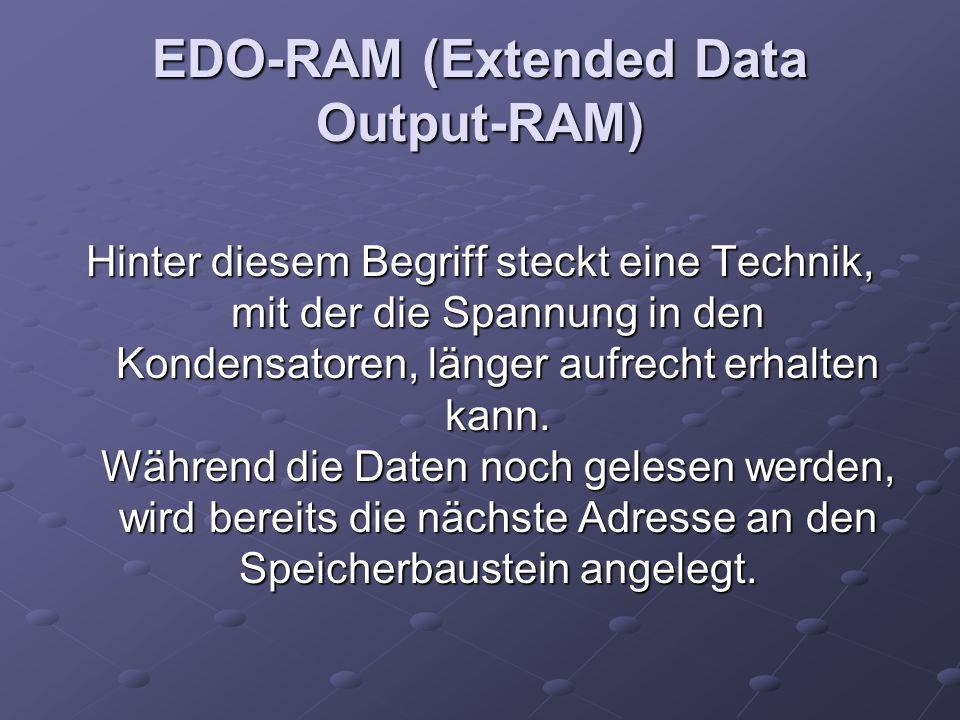EDO-RAM (Extended Data Output-RAM)