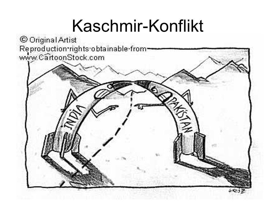 Kaschmir-KonfliktEs wurden noch 2 Kriege zwischen Indien und Pakistan durchgeführt. 1965 und 1971. In beiden Kriegen gewann Indien.