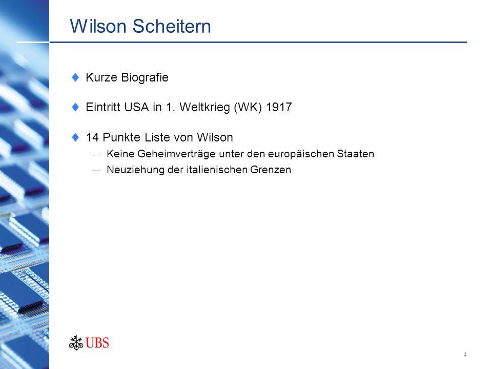 Wilson Scheitern Kurze Biografie