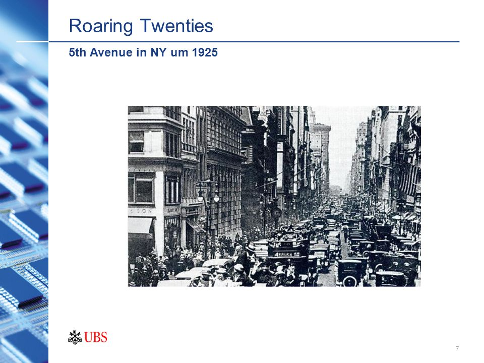 Roaring Twenties 5th Avenue in NY um 1925