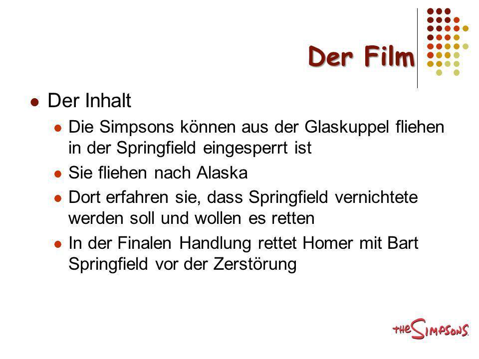 Der Film Der Inhalt. Die Simpsons können aus der Glaskuppel fliehen in der Springfield eingesperrt ist.