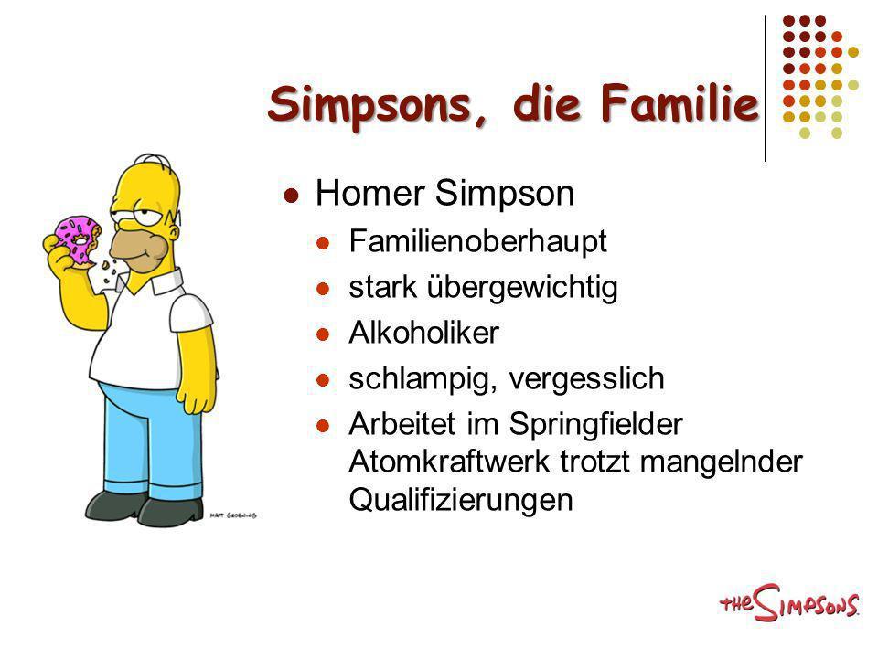 Simpsons, die Familie Homer Simpson Familienoberhaupt