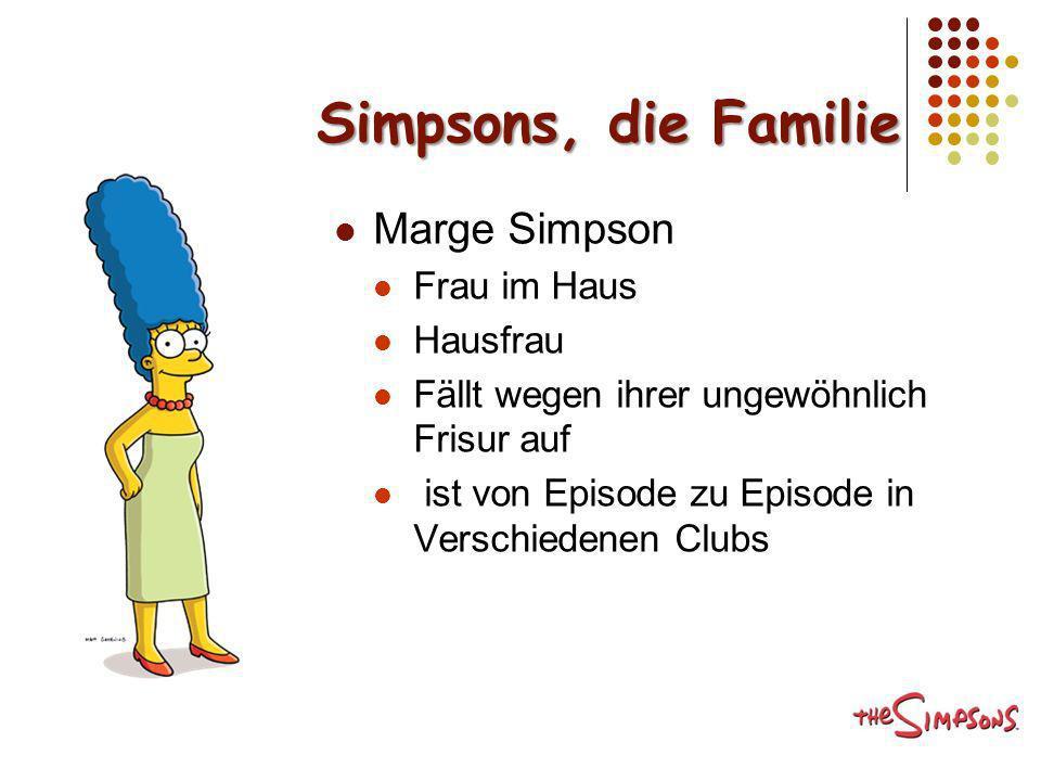 Simpsons, die Familie Marge Simpson Frau im Haus Hausfrau