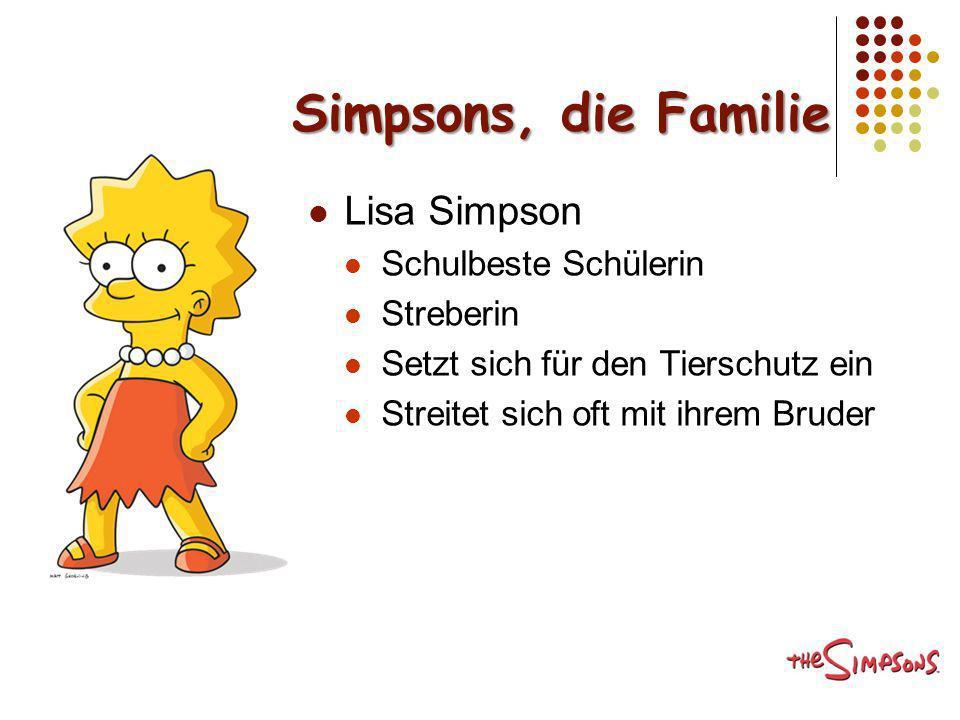 Simpsons, die Familie Lisa Simpson Schulbeste Schülerin Streberin