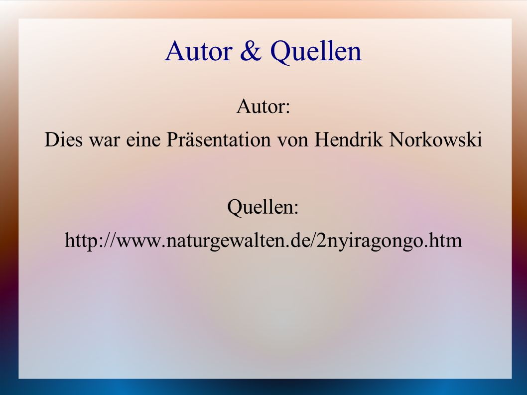 Dies war eine Präsentation von Hendrik Norkowski