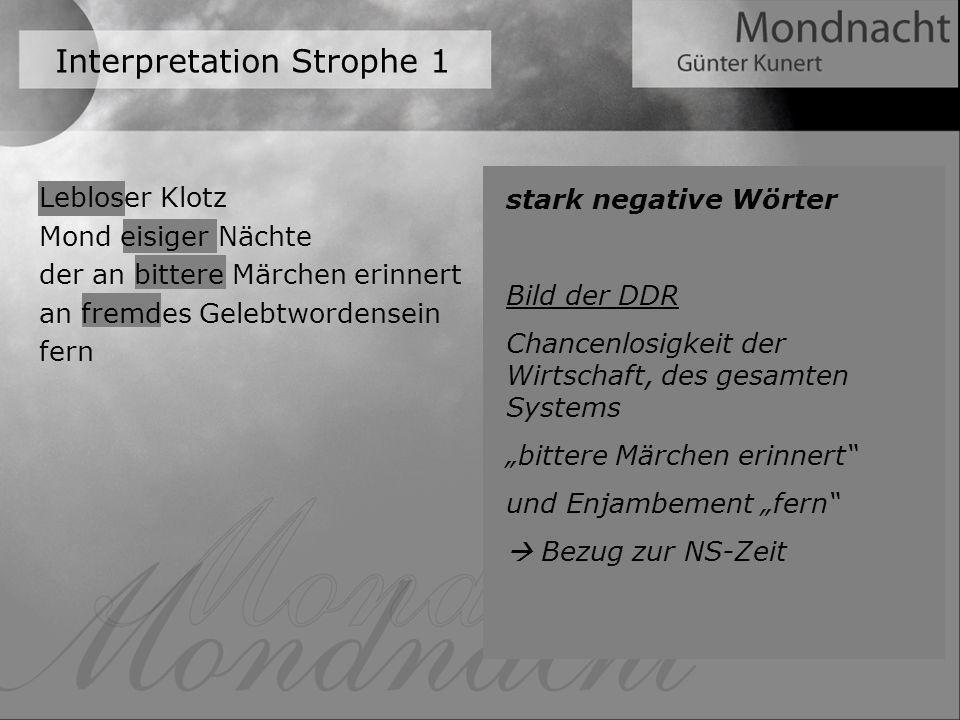Interpretation Strophe 1