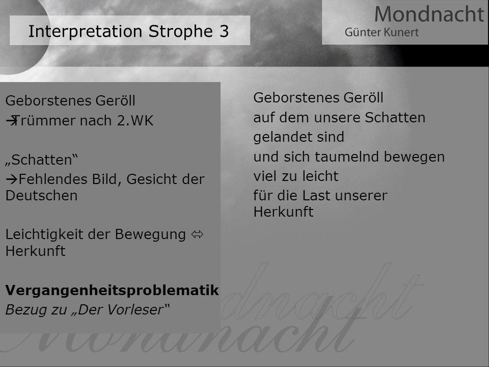 Interpretation Strophe 3