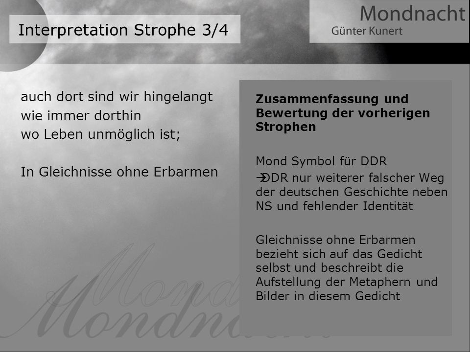 Interpretation Strophe 3/4