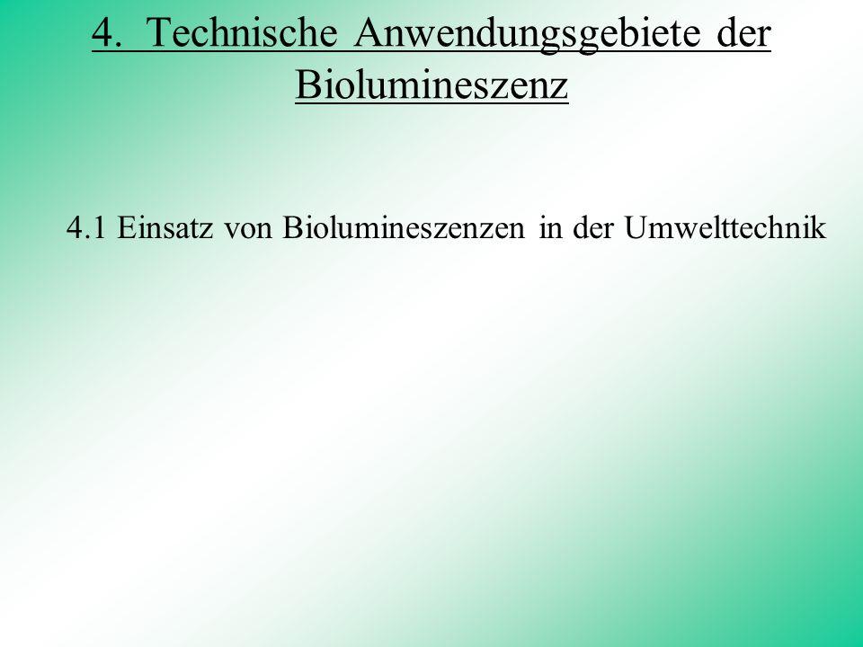 4. Technische Anwendungsgebiete der Biolumineszenz