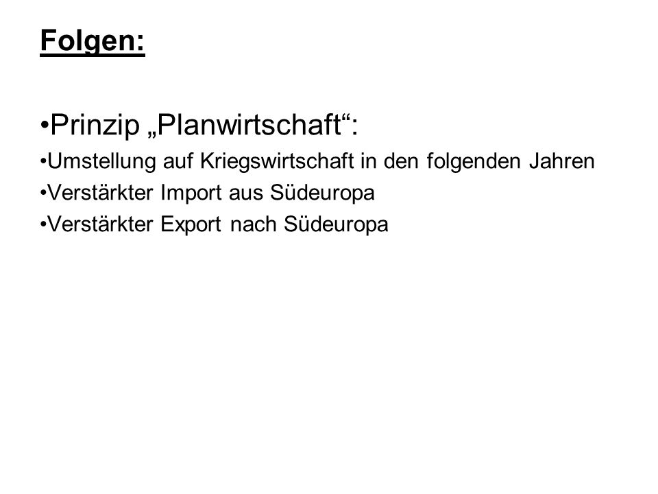 """•Prinzip """"Planwirtschaft :"""