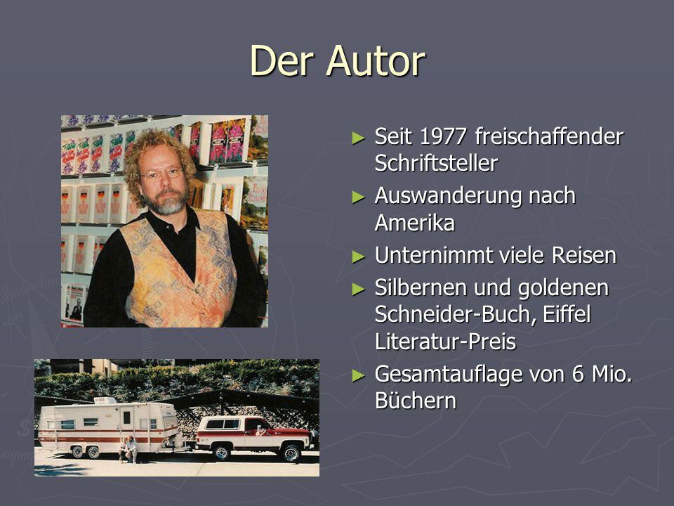 Der Autor Seit 1977 freischaffender Schriftsteller
