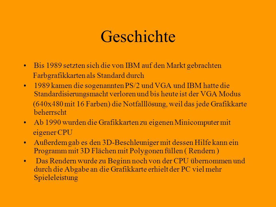 Geschichte Bis 1989 setzten sich die von IBM auf den Markt gebrachten