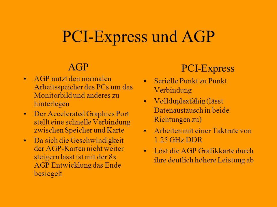 PCI-Express und AGP AGP PCI-Express