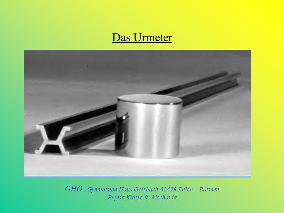 Das Urmeter GHO - Gymnasium Haus Overbach 52428 Jülich – Barmen