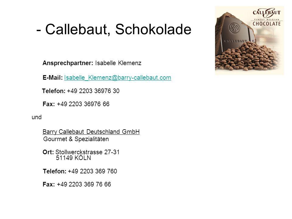 - Callebaut, Schokolade