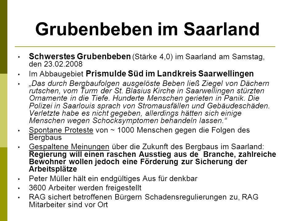 Grubenbeben im Saarland