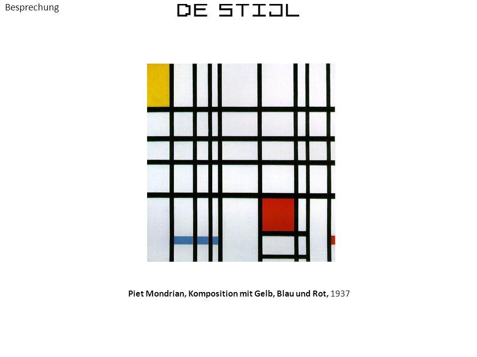 Besprechung Piet Mondrian, Komposition mit Gelb, Blau und Rot, 1937