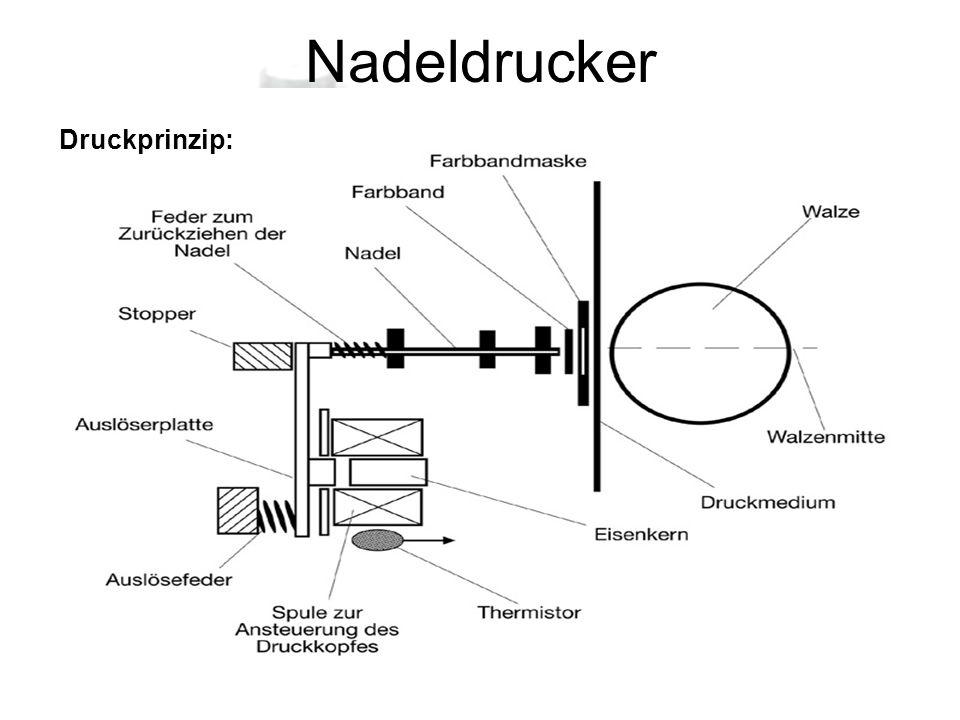 Nadeldrucker Druckprinzip: