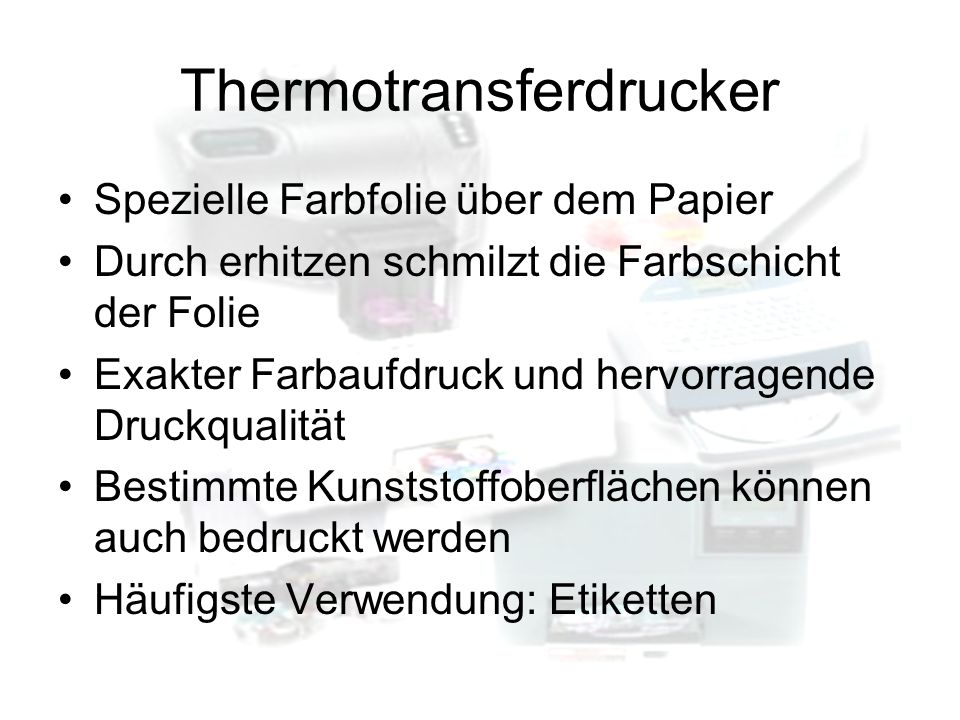 Thermotransferdrucker