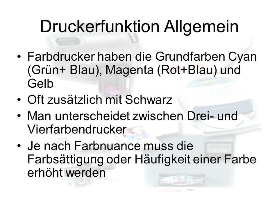Druckerfunktion Allgemein