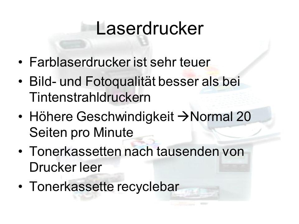 Laserdrucker Farblaserdrucker ist sehr teuer