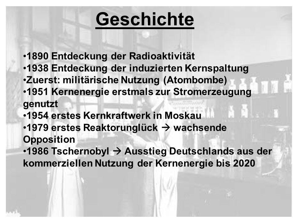 Geschichte 1890 Entdeckung der Radioaktivität
