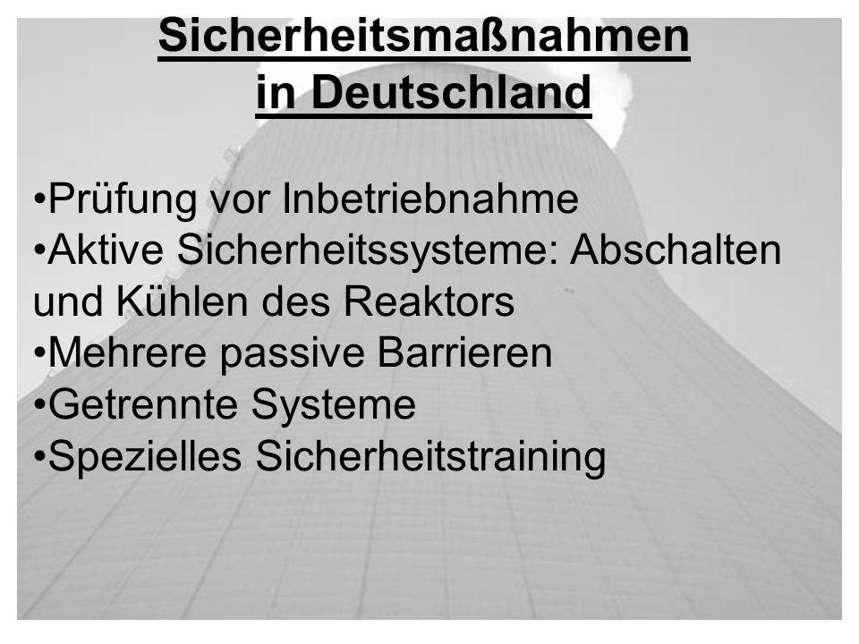 Sicherheitsmaßnahmen in Deutschland