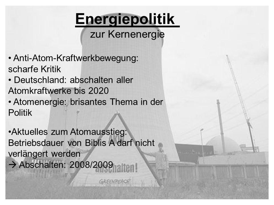 Energiepolitik zur Kernenergie