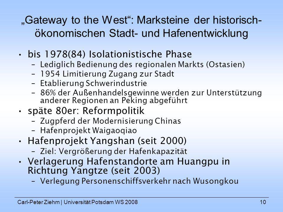 """""""Gateway to the West : Marksteine der historisch-ökonomischen Stadt- und Hafenentwicklung"""