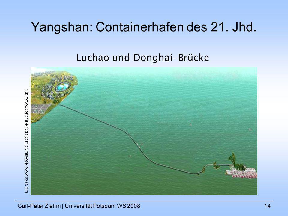 Yangshan: Containerhafen des 21. Jhd.