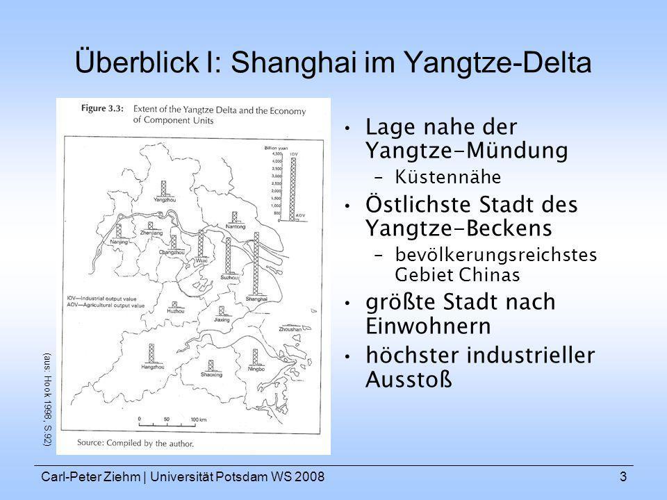 Überblick I: Shanghai im Yangtze-Delta