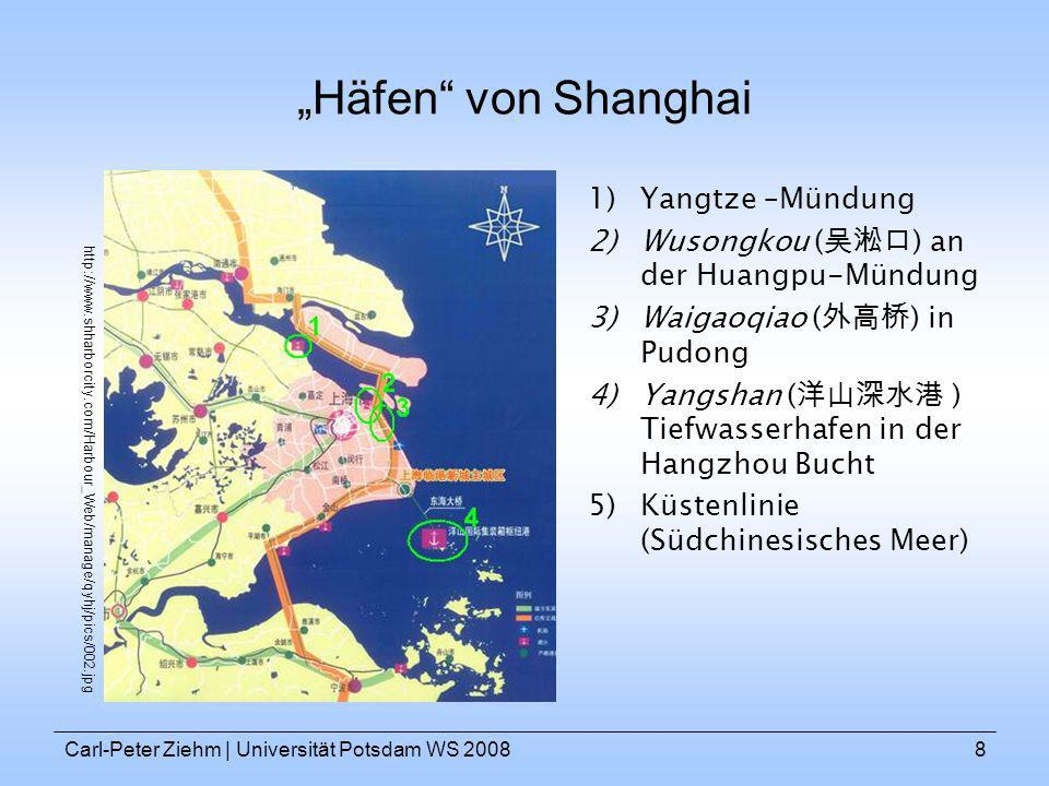 """""""Häfen von Shanghai Yangtze –Mündung"""