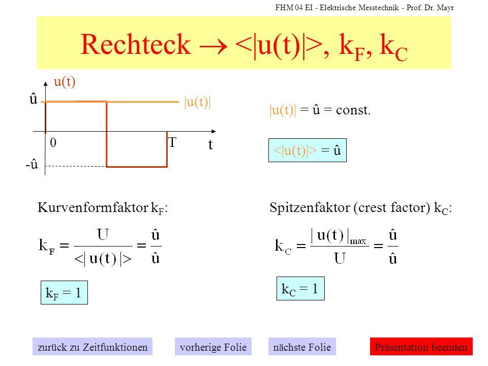 Rechteck  <|u(t)|>, kF, kC