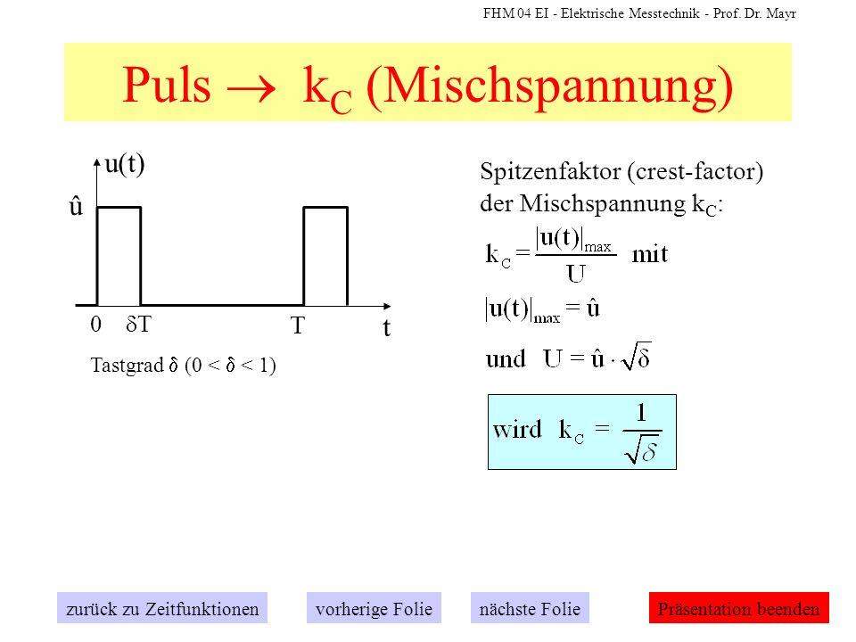 Puls  kC (Mischspannung)