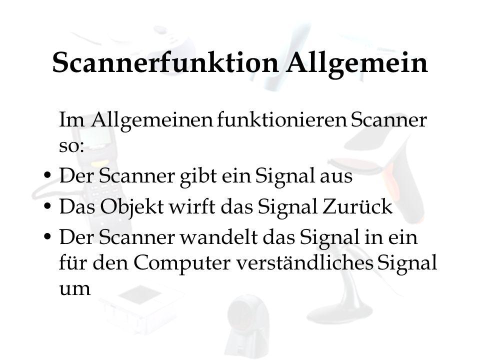 Scannerfunktion Allgemein