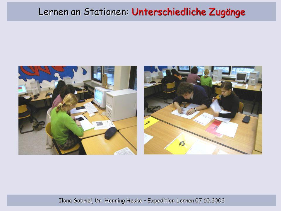 Lernen an Stationen: Unterschiedliche Zugänge