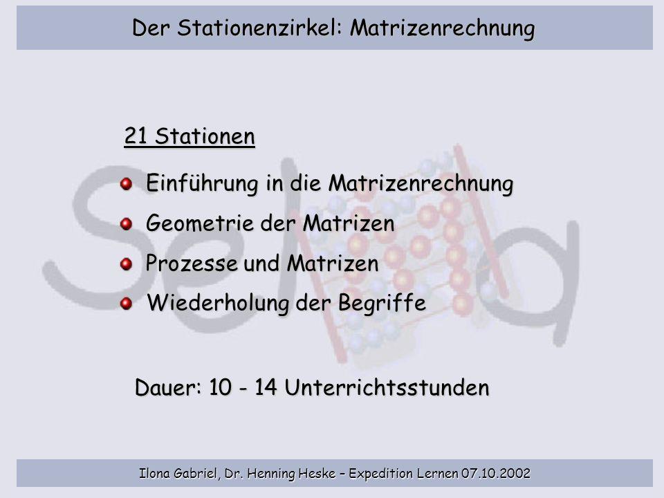 Der Stationenzirkel: Matrizenrechnung