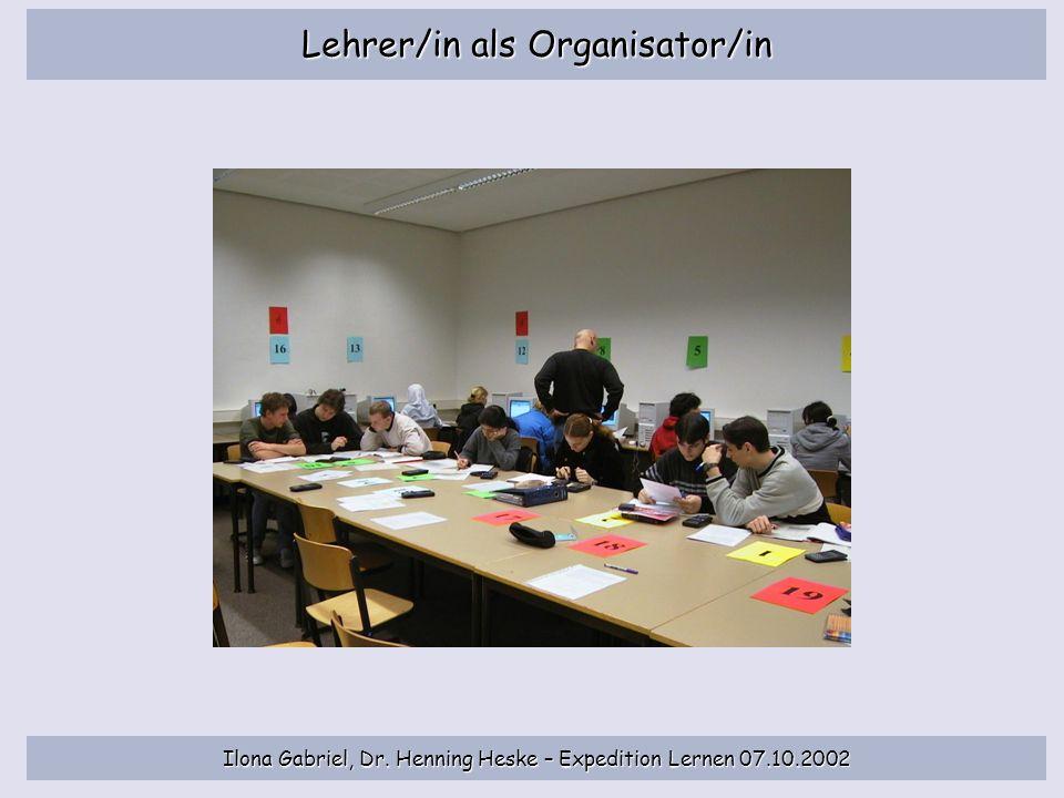 Lehrer/in als Organisator/in
