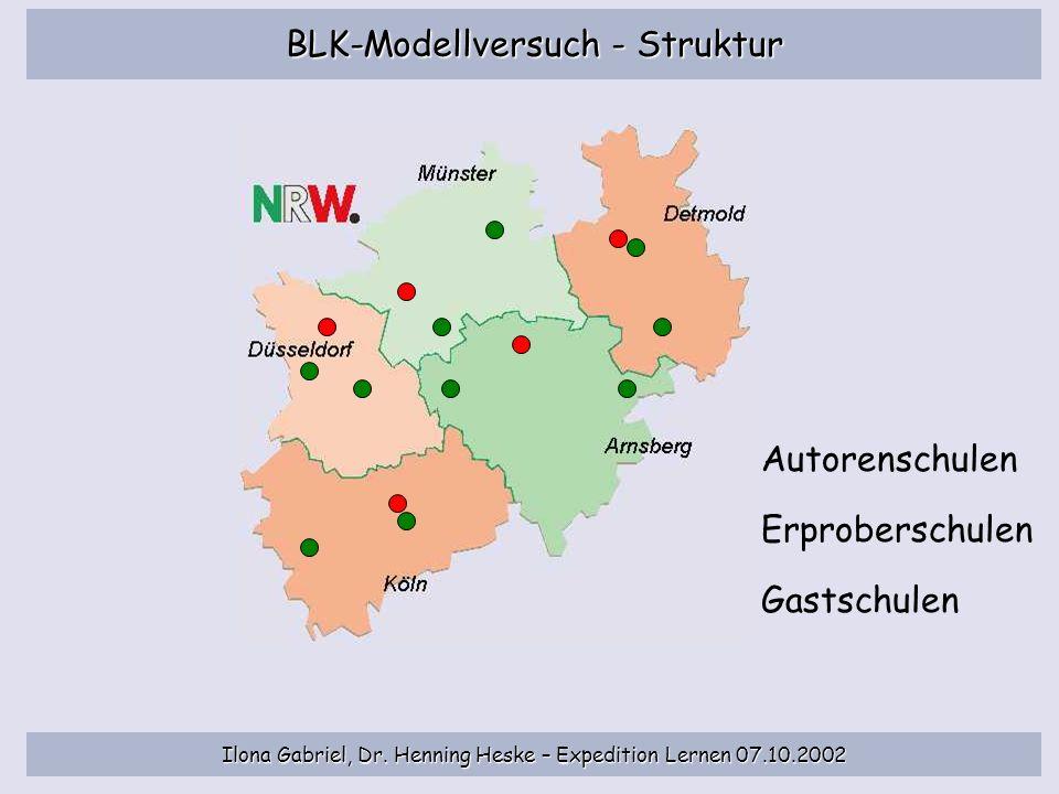 BLK-Modellversuch - Struktur