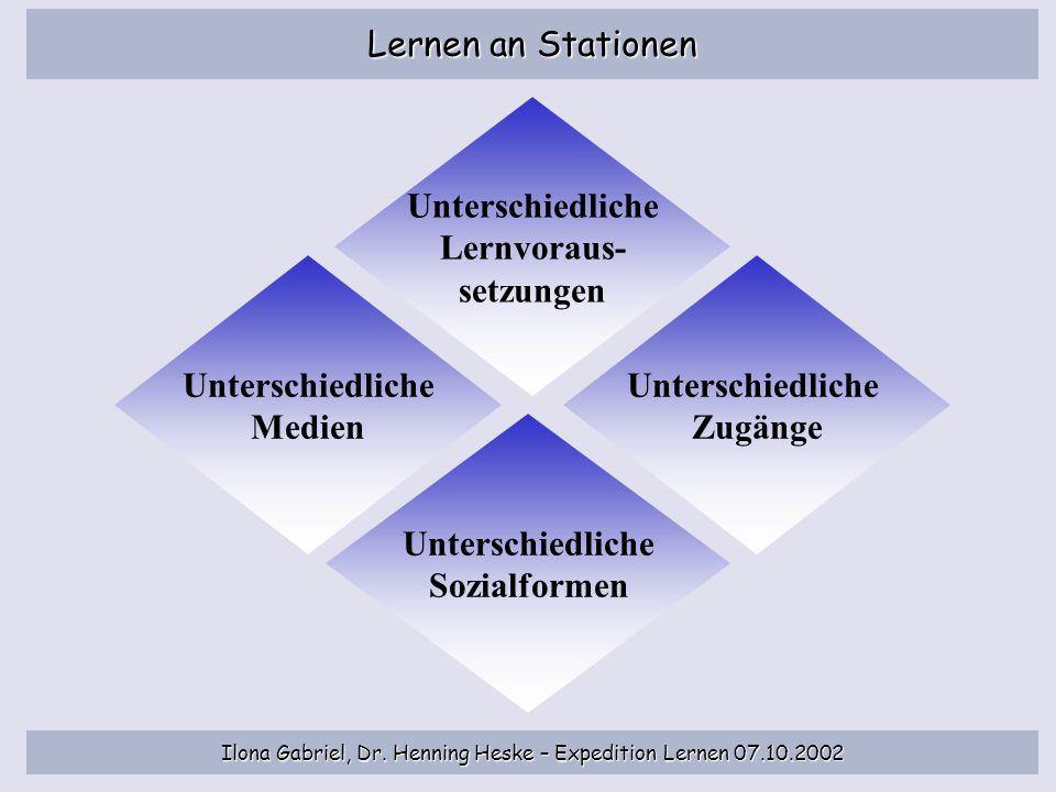 Unterschiedliche Lernvoraus- setzungen