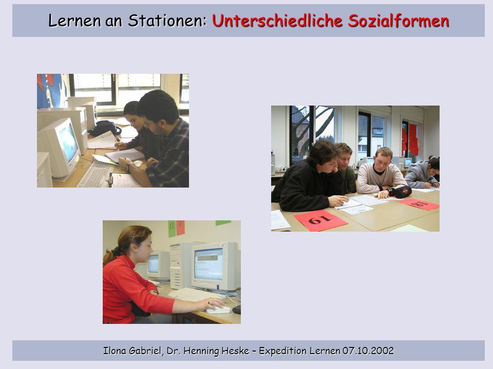 Lernen an Stationen: Unterschiedliche Sozialformen