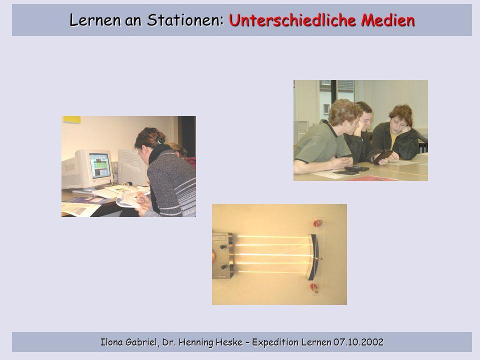 Lernen an Stationen: Unterschiedliche Medien