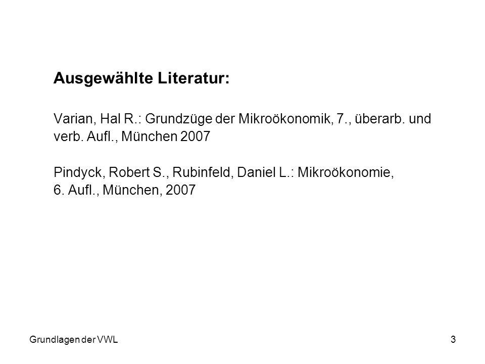 Ausgewählte Literatur: