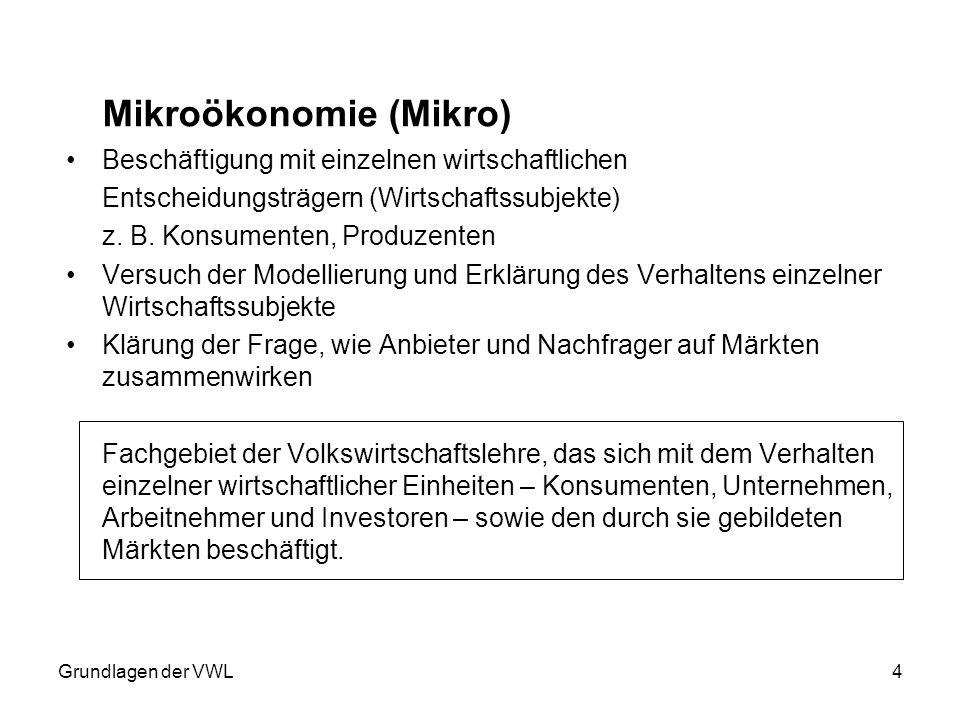 Mikroökonomie (Mikro)