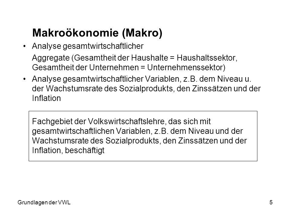 Makroökonomie (Makro)