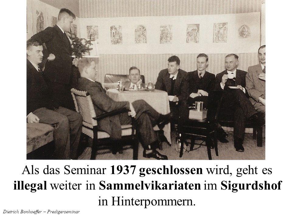 Dietrich Bonhoeffer – Predigerseminar